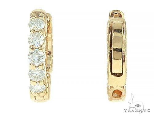 14K Yellow Gold Diamond Small Hoop Earring 65769 Style