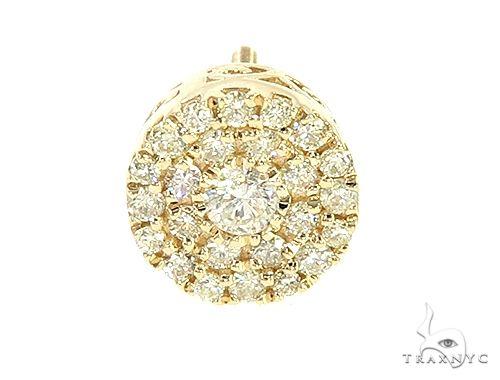 14K Yellow Gold Diamond Stud Cluster Earrings 65957 Stone