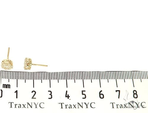 14K Gold Diamond Stud Cluster Earrings 65957 Stone