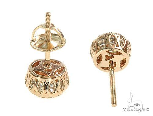 14K Yellow Gold Diamond Stud Earrings 65824 Stone