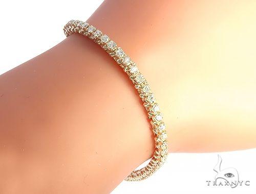 14K Yellow Gold Diamond Tennis Bracelet 65282 Tennis
