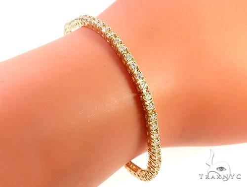 14K Yellow Gold Diamond Tennis Bracelet 65296 Tennis