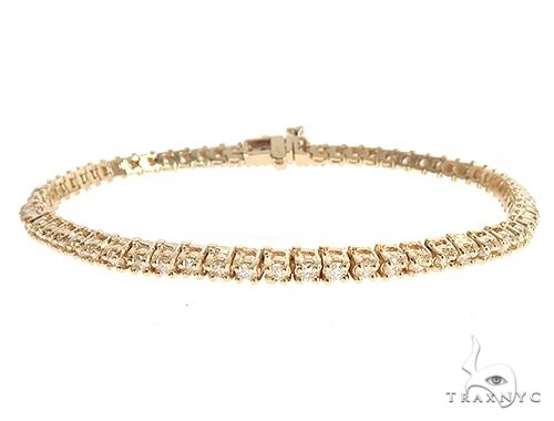 14K Yellow Gold Diamond Tennis Bracelet 65297 Tennis