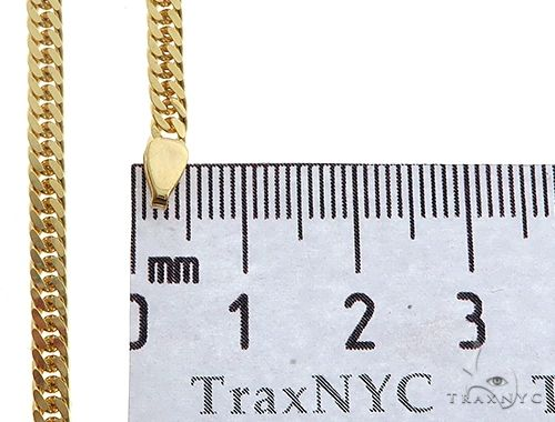 14K Yellow Gold Double Curb Link Chain 24 inches 3.8mm 22.50 gm 65197 Gold