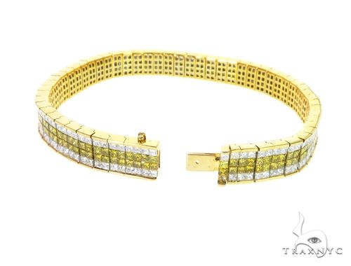 14K Yellow Gold Dual Color Diamond Bracelet 63737 Diamond