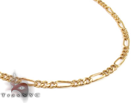 14K Yellow Gold Figaro Chain 24 Inches 4mm 9.9 Grams Gold