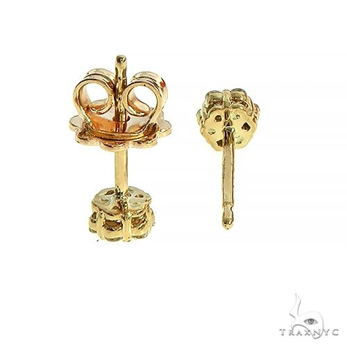 14K Gold Flower Cluster Earrings 66434 Stone