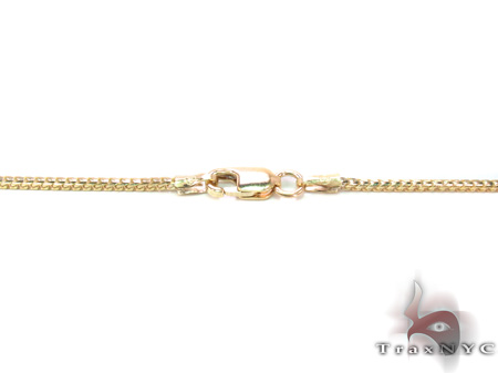 14K Yellow Gold Franco Chain 16 Inches, 1mm, 3.7Grams Gold
