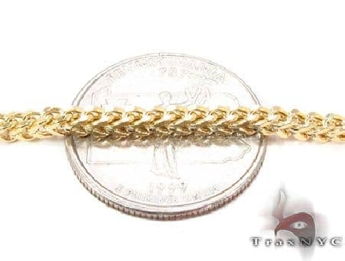 14K Yellow Gold Franco Chain 24 Inches 3mm 12.0 Grams 65539 Gold