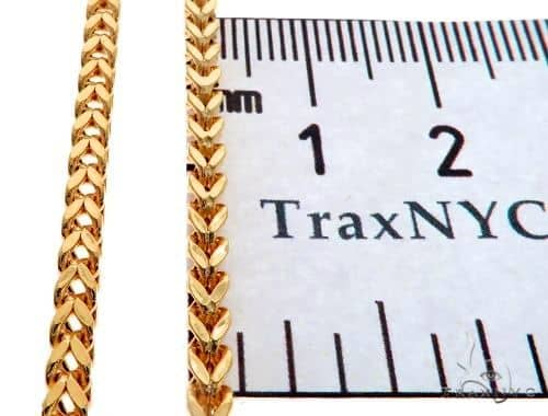 14K Yellow Gold Franco Link Chain 24 Inches 2.5mm 12.4 Grams 65673 Gold