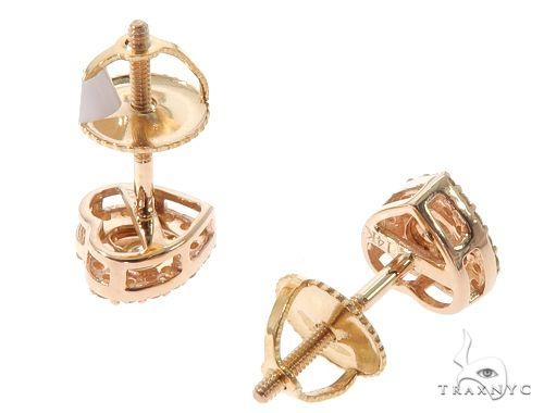14K  Gold Heart Shape Stud Earrings 64532 10k, 14k, 18k Gold Earrings