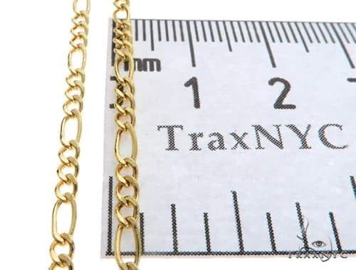 14K Yellow Gold Hollow Figaro Link Chains 20 Inches 2.5mm 2.8 Grams 66294 Gold