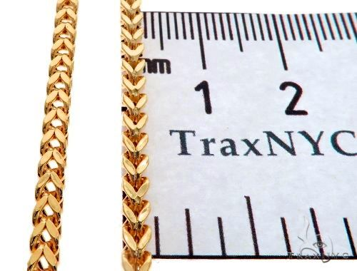 14K Yellow Gold Hollow Franco Link Chain 26 Inches 2.8mm 12.5 Grams 64433 Gold