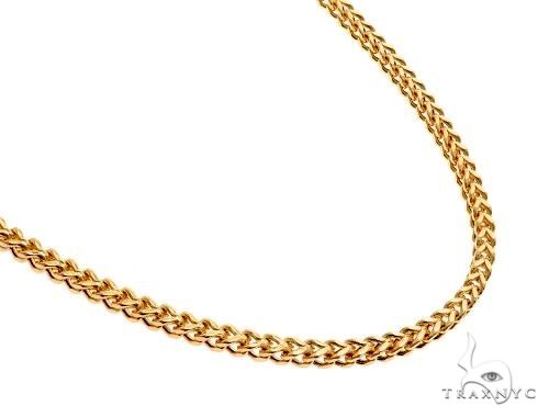 14K Yellow Gold Hollow Franco Link Chain 28 Inches 2.8mm 13.5 Grams 64434 Gold