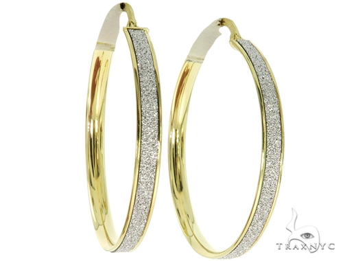 14K Yellow Gold Hoop Earrings 56922 10k, 14k, 18k Gold Earrings