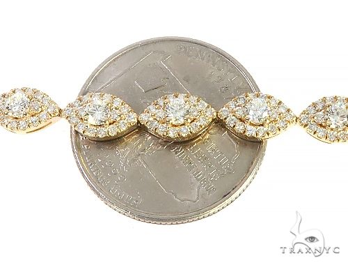 14K Yellow Gold Ladies Diamond Bracelet 65706 Diamond