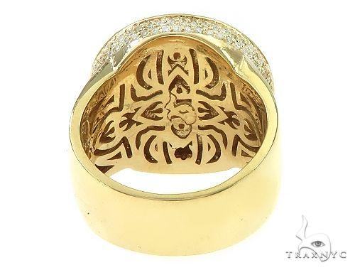 14K Yellow Gold Memorial Photo Ring 65760 Metal