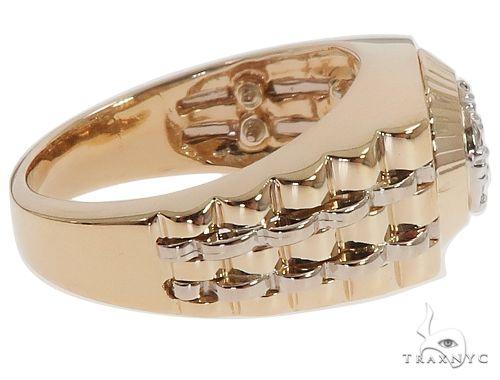 14K Yellow Gold Men's Diamond Ring 64641 Stone