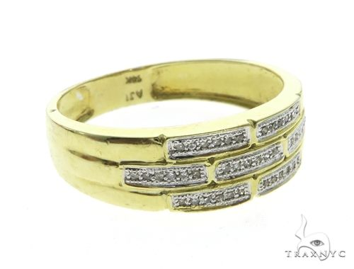 14K Yellow Gold Men's Diamond Ring 63667 Stone