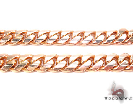 14K Rose Gold Miami Cuban Chain 30 Inches 9mm 178.3 Grams Gold