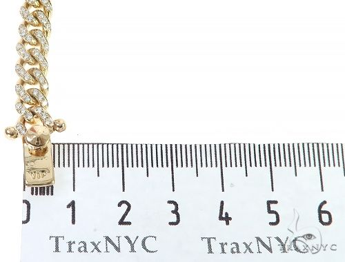 14K Yellow Gold Miami Cuban Diamond Bracelet 65224 Diamond