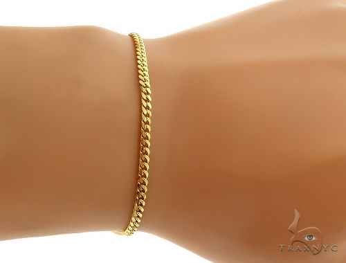 14K Yellow Gold Miami Cuban Link Bracelet 8 Inches 2.6mm 4.5 Grams 66036 Gold