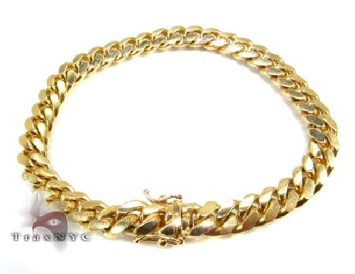 14K Yellow Gold Miami Cuban Link Bracelet 8.5 Inches 7mm 36.55 Grams Gold