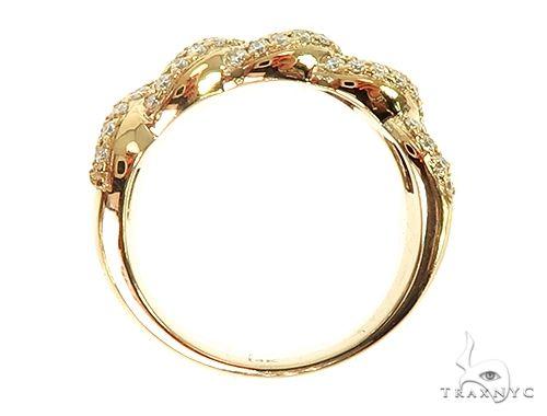 14K Yellow Gold Miami Cuban Link Diamond Ring 65851 Anniversary/Fashion