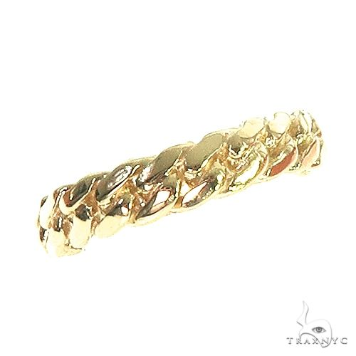 14K Yellow Gold Miami Cuban Link Ring 4.5mm 66662 Metal