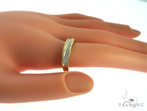 Silver Yellow  Micro Pave Diamond Ring 63639 Anniversary/Fashion