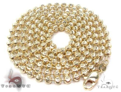 14K Yellow Gold Moon Cut Chain 24 Inches 4mm 29.0 Grams 64803 Gold