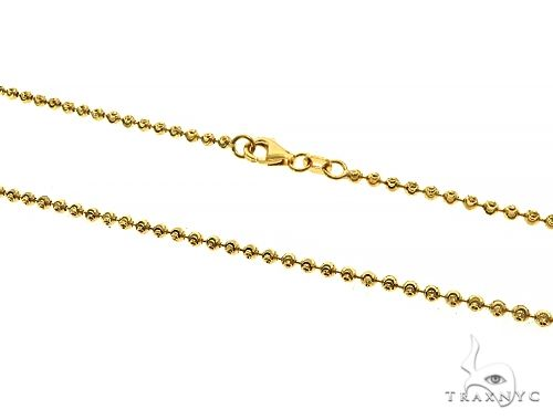 14K Yellow Gold Moon Cut Link Chain 20 Inches 2mm 7 Grams 66031 Gold
