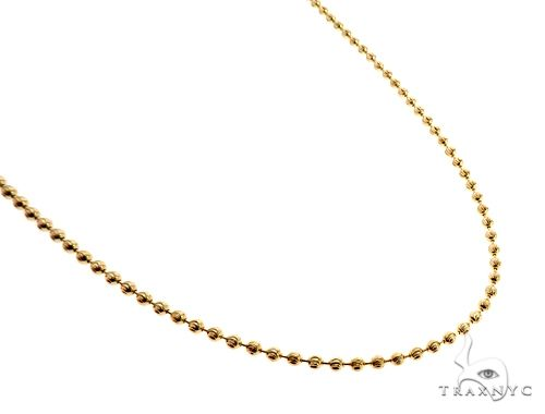 14K Yellow Gold Moon Cut Link Chain 22 Inches 2.9mm 13.5 Grams Gold