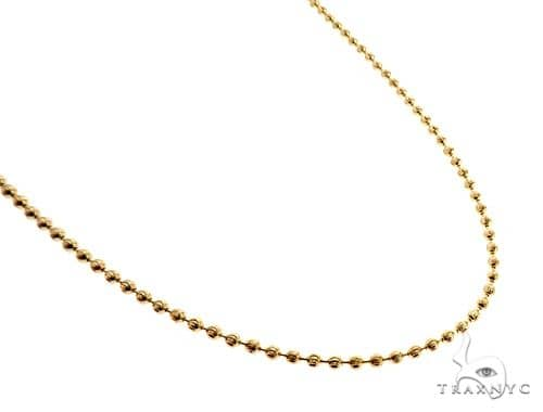 14K Yellow Gold Moon Cut Link Chain 22 Inches 3.5mm 65308 Gold