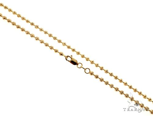 14K Yellow Gold Moon Cut Link Chain 24 Inches 2.9mm 14.5 Grams Gold