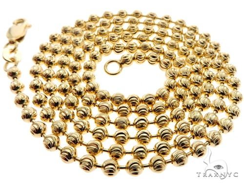 14K Yellow Gold Moon Cut Link Chain 28 Inches 2.9mm 17.4 Grams Gold