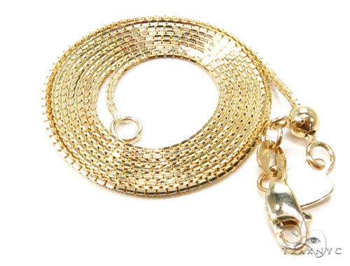 14K Yellow Gold Adjusable Length Necklace Gold