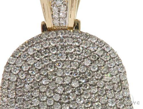 14K Yellow Gold Pave Diamond Hamsa Pendant 61613 Metal
