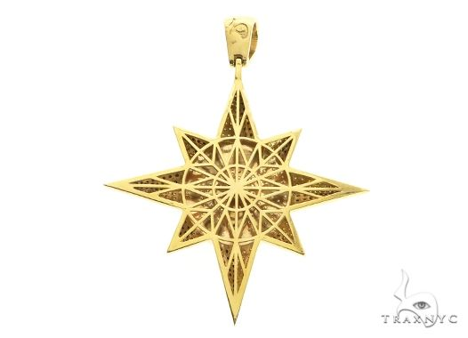 Custom Universal Flag Diamond Star Pendant 63852 Metal