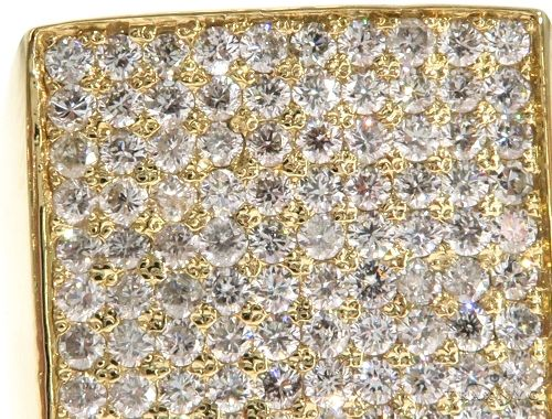 14K Yellow Gold Diamond Square Ring 61508 Stone