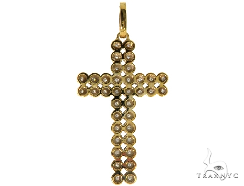 14K Yellow Toni Cross Crucifix Diamond