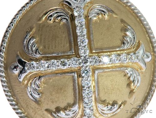14K Yellow Gold Prong Diamond Custom Made TraxNYCs Templar Ring Knights Crusader Masonic Stone