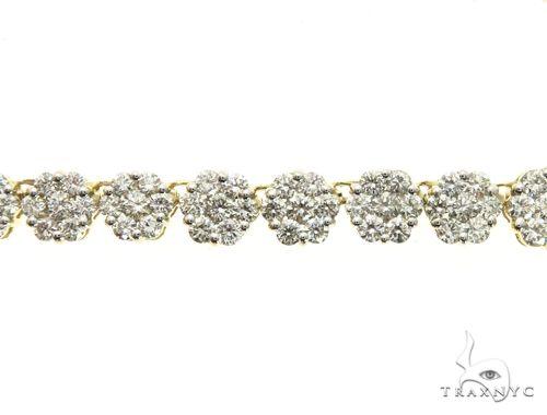 14K Yellow Gold Prong Diamond Flower Pendant 63730 Diamond