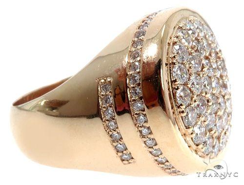 14K Yellow Gold Prong Diamond Traxnyc Ring 64739 Stone