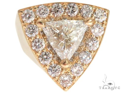 14K Yellow Gold Prong Diamond Trillion Cut Ring 61790 Stone