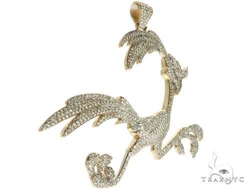 14K Yellow Gold Running Bird Pendant 63090 Metal