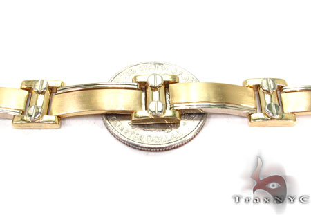 14K Yellow Gold Screw Bar Bracelet Gold