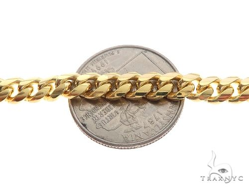 14K Yellow Gold Solid Miami Cuban Link Bracelet 8.5 Inches 6 mm 25 Grams 65590 Gold