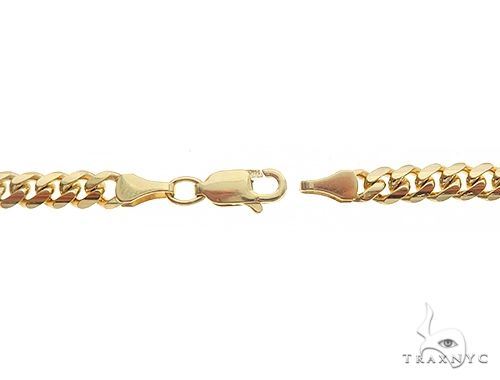 14K Yellow Gold Solid Miami Cuban Link Chain 24 Inches 4.1 mm 28.7 Grams 65917 Gold