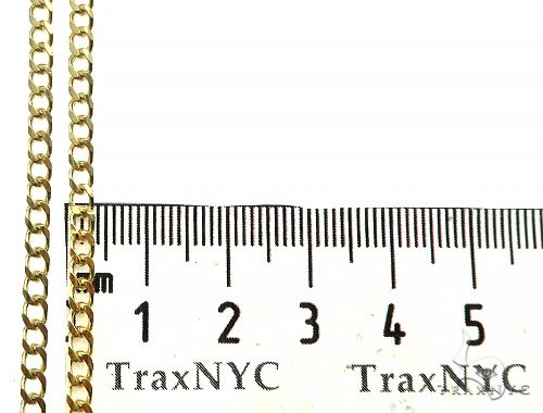 14K Yellow Gold Solid Thin Curb Link Chain 20 Inches 3mm 10.0 Grams 65977 Gold